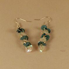 Blue Sequin Hook Earrings, Blue Sequin Earrings, Blue Sequin Dangle Earrings, Earrings, Earrings for Her, Gifts for Her, Women's Earrings by DivinitysDivineTouch on Etsy