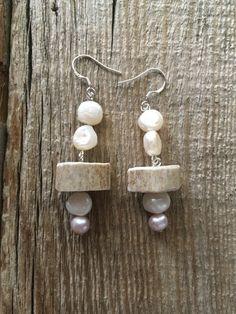 Deer Antler Earrings. Sterling Silver. Real Antler. Custom Jewelry, Handmade Jewelry, Unique Jewelry, Handmade Gifts, Antler Jewelry, Deer Antlers, Sterling Silver Earrings, Jewelry Design, Drop Earrings