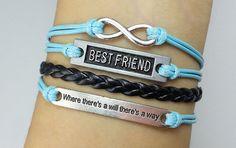 infinity karma  bracelet best friend bracelet  by couplesbracelet, $5.99