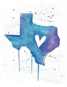 The heart of Texas.  Repinned by www.rx4nails.com