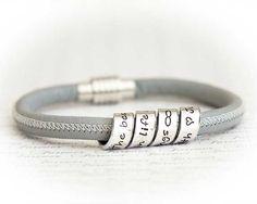 Women's Personalized Leather Bracelet