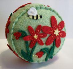 Hydrangea Pincushion by TheDailyPincushion on Etsy