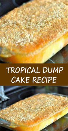 Crazy Cake Recipes, Dump Cake Recipes, Frosting Recipes, Fruit Recipes, Baking Recipes, Dessert Recipes, Dump Cakes, Quick Recipes, Dessert Ideas