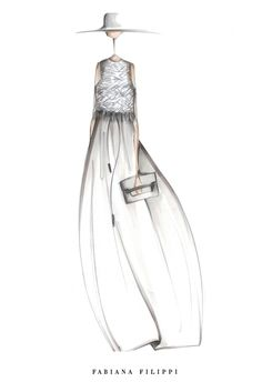 Fashion illustration - chic fashion design sketch for Fabiana Filippi