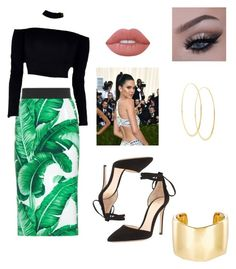 """Greens"" by brooklynb39 ❤ liked on Polyvore featuring Dolce&Gabbana, Gianvito Rossi, GALA, Lime Crime, Lana and Jennifer Fisher"