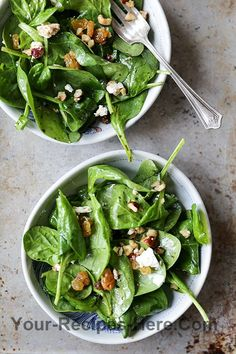 Wilted Spinach Salad with Hazelnuts, Goat Cheese and Raisins ...