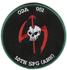 10th Special Forces Group Pocket Patches Operational Detachment A-051 B Company, 2nd Battalion
