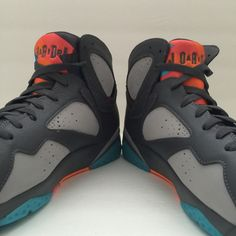 Name : Air Jordan 7 Retro 'Barcelona' Day Size (US) : 13 Condition : New Jordan 7, Jordan Retro, Mens Nike Air, Nike Men, Snicker Shoes, Mommy And Son, Retro 7, Lit Shoes, Shoes World