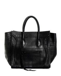 Celine LU Leather Boston Black Handbag - Made in Italy, 8/10 Condition