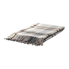 "Ikea HERMINE throw blanket Soft Wool Bland Blanket Beige, Brown 71x47"" couch throws Ikea on amazon"