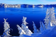 Blue and White, Crater Lake, Oregon
