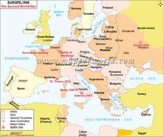 WW2 Map of Europe   World War 2 Map