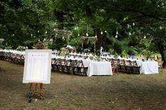 Al fresco wedding |