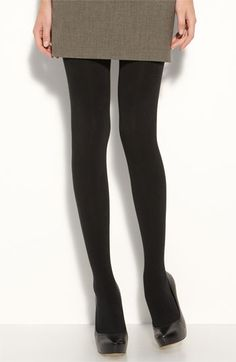 I love the look of black tights with booties or suede shoes....these are completely opaque and make your legs look super svelte!!