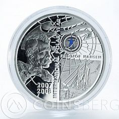 Armenia 100 drams International Polar Year Fridtjof Nansen silver proof 2006