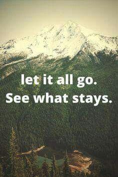 Deja ir todo. Observa q se queda.