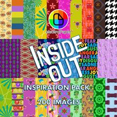 Inside Out Inspiration Pack - Party Decoration Wrapping Die Cutting Scrapbooking - Silhouette Cameo Cricut Explore de ElectroPaper en Etsy