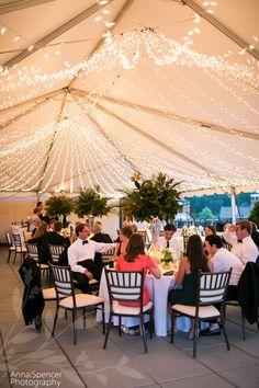 Atlanta wedding reception venue: The Capital City Club outdoor terrace tent in Brookhaven
