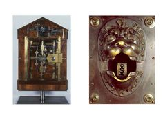"""""""Any person using the wrong key in the 1780 lock on the right will find his wrist clamped by the jaws of a fearsome metal lion; anyone jimmying the 1823 lock on the left may get shot by the pistol embedded within it (just barely visible at top right)."""" — The History of Key Design: From Ancient Wooden Rods to the Hotel Keycard - Slate Magazine"""