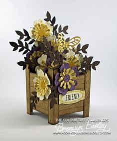 Planter Box with Bouquet Die by BronJ - Cards and Paper Crafts at Splitcoaststampers