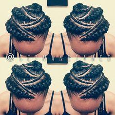 Ghana braids/ feed in cornrows/ cornrows / goddess braids/ braid designs. Follow me on instagram @getmanetamed.