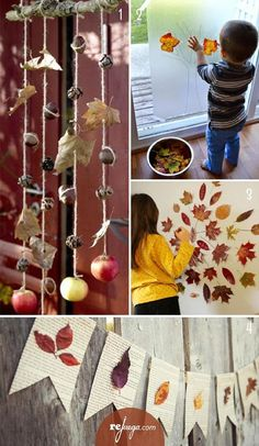 juegos para otoño con niños by katie - Fall Crafts For Toddlers Autumn Crafts, Autumn Art, Nature Crafts, Autumn Theme, Art Nature, Reggio Emilia, Infant Activities, Activities For Kids, Diy For Kids