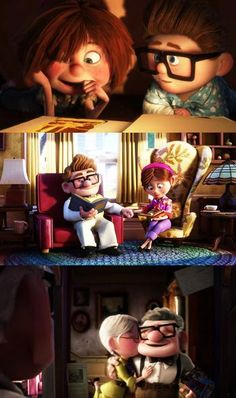 Disney 30 Day Challenge: Favorite Couple: Ellie and Carl- Up Disney Pixar, Disney Up, Walt Disney, Disney Amor, Disney And Dreamworks, Disney Magic, Disney Movies, Disney Characters, Best Love Stories