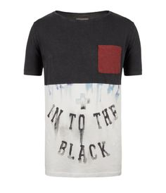 Only Sky Cut Collar T-shirt, Men, Graphic T-Shirts, AllSaints ...