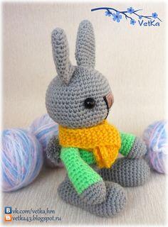 Bunny Amigurumi 17cm- Free Russian Pattern