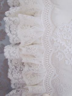 cream rose blush cream gold shabby chic style vintage- pretty enough to be on a wedding gown! Lace Ribbon, Lace Ruffle, Ruffles, White Lace Fabric, Floral Lace, Vintage Shabby Chic, Vintage Lace, Pearl And Lace, Shabby Chic Bedrooms