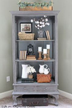 Antique Cabinet makeover with Country Chic Paint - Farmhouse style - Life on Kaydeross Creek