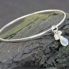 Moonstone Bangle Bracelet, $39- roxysjewelry.com