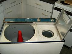 Twin-tub washing machine. So much more practical when you have the sock which got away.
