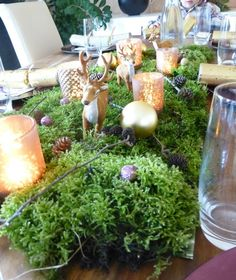 moosliane girlande liane moos tischdeko kunstpflanze 100 cm in m bel wohnen dekoration. Black Bedroom Furniture Sets. Home Design Ideas