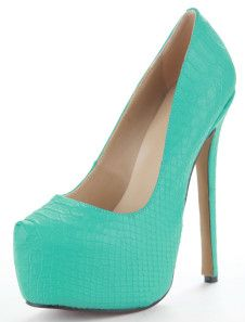 Fashion Platform Snakeskin Pattern Womens High Heel Shoes