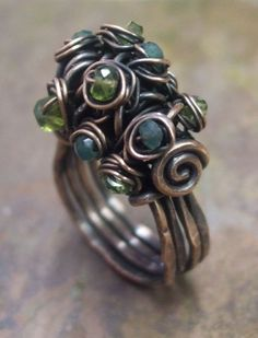 Woodland Moss Ring Tutorial, PurpleLily Designs.