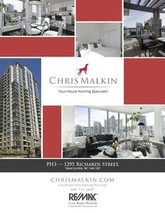 Chris Malkin Realty (www.chrismalkin.com) Featuresheet design for a downtown penthouse listing. Where are you living?   #Vancouver #Real #Estate #Design #Branding #Featuresheets #Buyers #Sellers #Packages #Business #Cards #Mailouts #Brochures #Pamphlets #REALTOR
