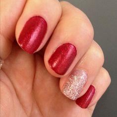 Valentine's nail bling