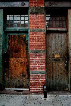 | ♕ |  Old Borough Doors - West Village, NYC  | by © Nicole Franzen