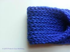 Classic Blue Knitted Headband by FrenchSoulKnittery on Etsy, $12.50