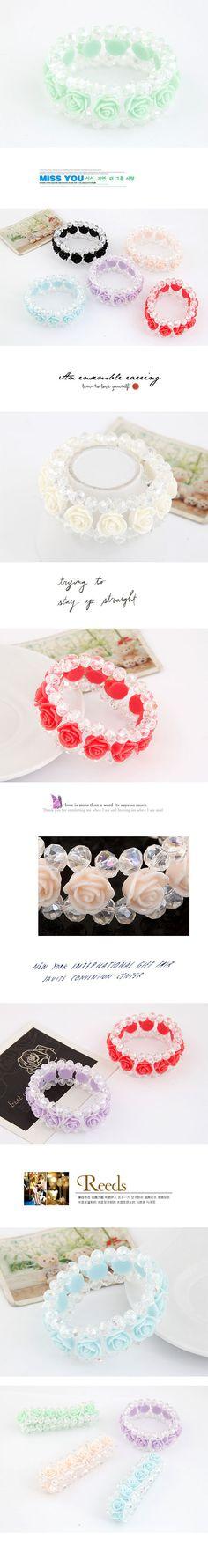 Wholesale Partido elegante fácil rosa pulsera de cristal (púrpura) | Callesetas