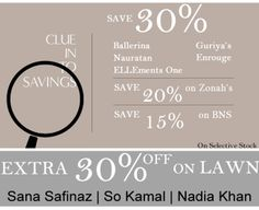 Discount Offers ... ! Save up to 30%  #Islamabad #Pakistan #Discount #Clothes #Shoes #Jewellery #Fashion #Women #Lawn #Save