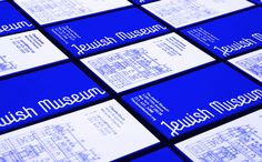 It's Nice That : Graphic Design: Sagmeister & Walsh create striking identity for New York's Jewish Museum Museum Identity, Museum Branding, Sagmeister And Walsh, Stefan Sagmeister, Visual Identity, Brand Identity, Corporate Identity, Corporate Design, Jüdisches Museum