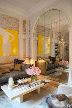 Modern and Parisian Chic mix - home decor