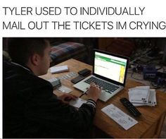 I wonder if people who received the tickets kept them