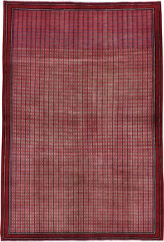 Vintage Kashan Modernist Rug, No. 23889 #vintagerug