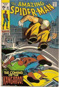 "BRONZE AGE 1970 AMAZING SPIDER-MAN # 81 MARVEL COMICS ""COMING OF THE KANGAROO"""