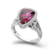 Garrards's Heart shaped Ruby & Diamonds ring