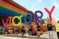 Balloons by Tommy celebrates Marriage Equality in the Chicago Pride Parade! | Balloons by Tommy | #balloonsbytommy