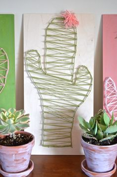 DIY Cactus String Art Craft - From Scratch With Maria Provenzano
